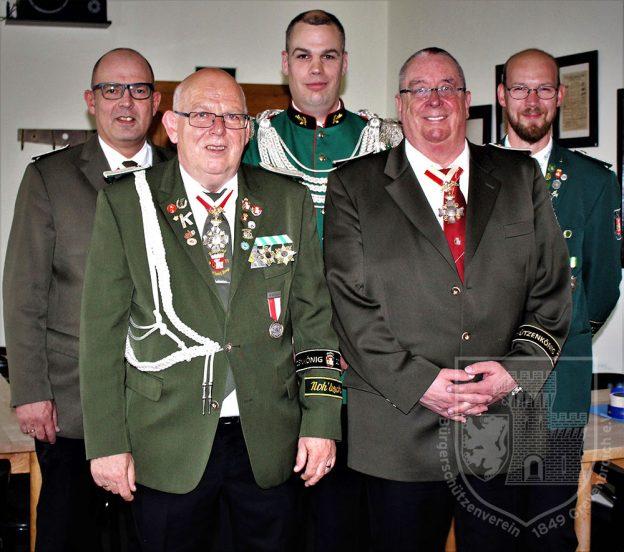 Der Vorstand des Königskreises 2018.