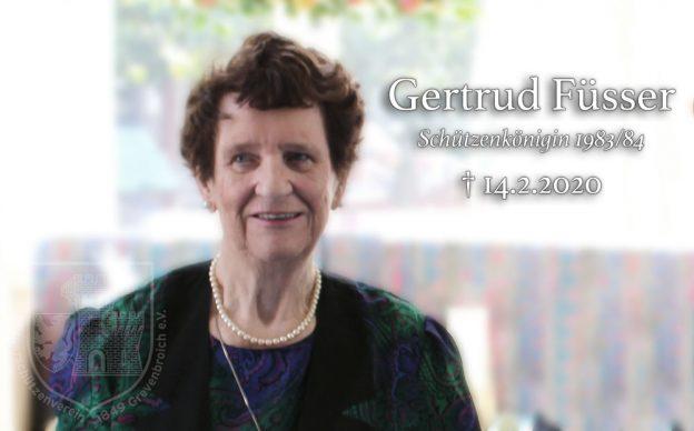Nachruf Gertrud Füsser