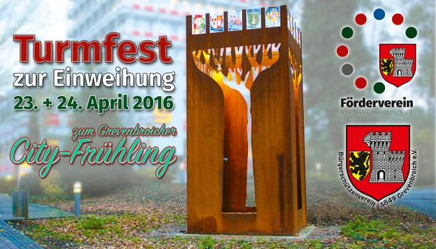 Einladung zum ersten Grevenbroicher Turmfest.