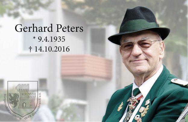 Ehrenvizepräsident Gerd Peters verstorben