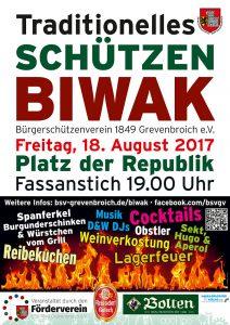 Das offizielle Plakat zum Schützenbiwak 2017