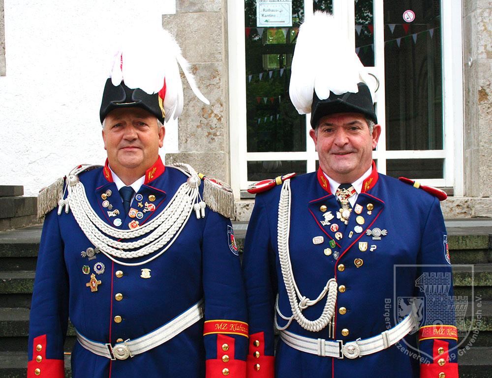 Grenadiermajor Ralf Stegers und Adjutant Antonio Aguilar