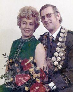 Gerd II. und Gisela Lübben in ihrem Königsjahr 1974/75.