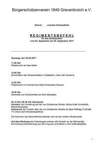 Der Regimentsbefehl 2017