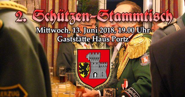 Einladungsbild zum 2. Schützenstammtisch am 13.6.2018