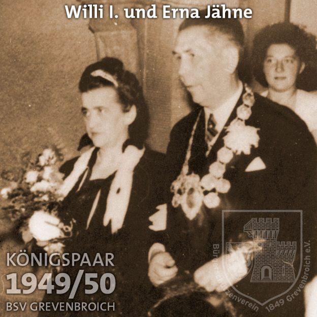 Schützenkönigspaar 1949/50: Willi I. und Erna Jähne