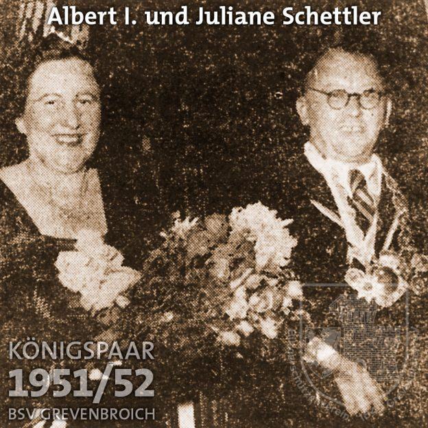 Schützenkönigspaar 1951/52: Albert I. Schettler