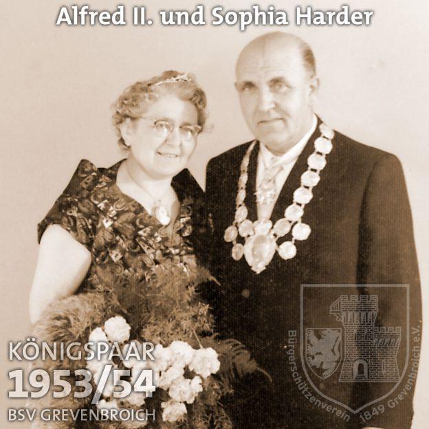 Schützenkönigspaar 1953/54: Alfred II. und Sophia Harder
