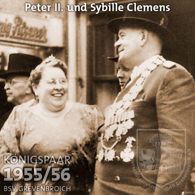 Schützenkönigspaar 1955/56: Peter II. und Sybille Clemens