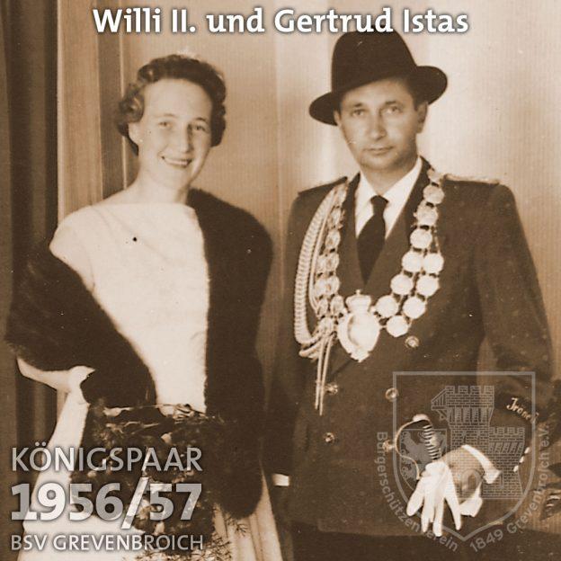 Schützenkönigspaar 1956/57: S.M. Willi II. und Gertrud Istas