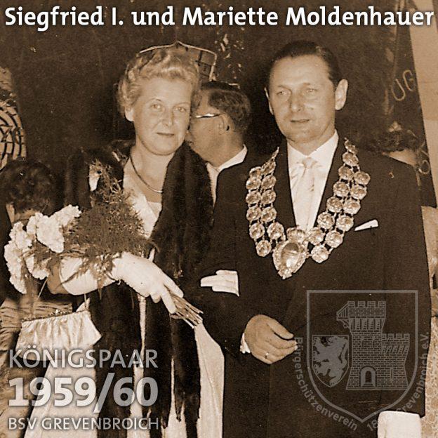 Schützenkönigspaar 1959/60: Siegfried I. und Mariette Moldenhauer