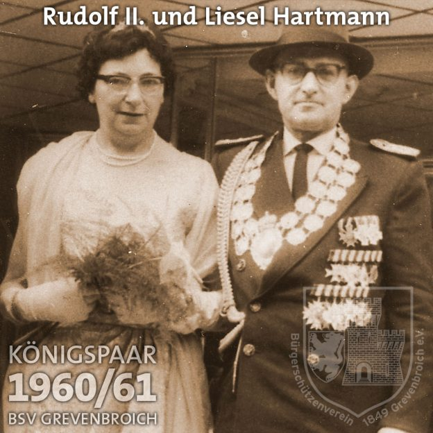 Schützenkönigspaar 1960/61: Rudolf II. und Liesel Hartmann