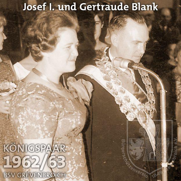 Schützenkönigspaar 1962/63: Josef I. und Gertraude Blank