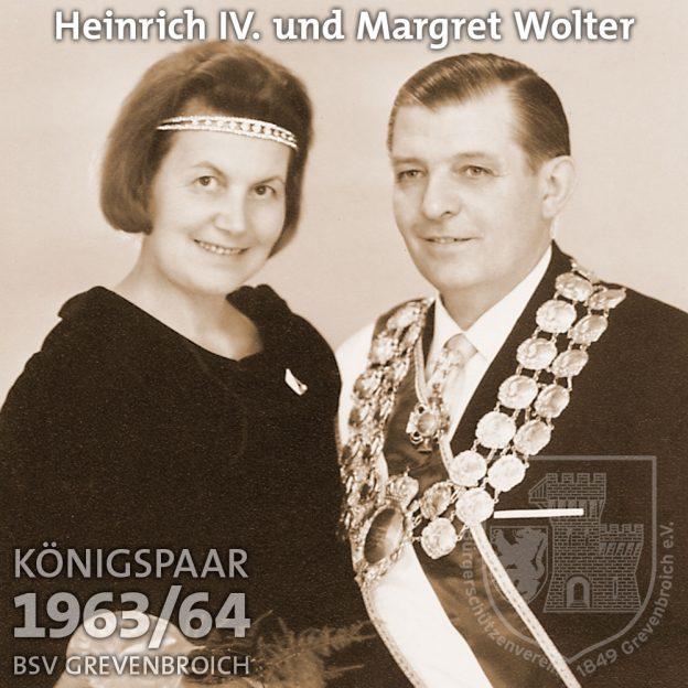 Schützenkönigspaar 1963/64: Heinrich IV. und Margret Wolter