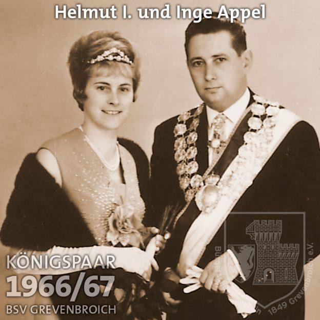Schützenkönigspaar 1966/67: Helmut I. und Inge Appel