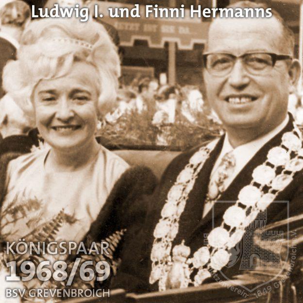 Schützenkönigspaar 1968/69: Ludwig I. und Finni Hermanns