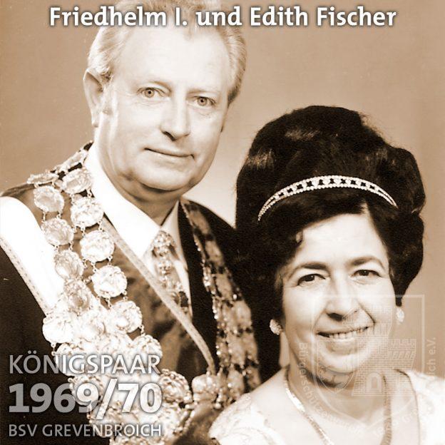 Schützenkönigspaar 1969/70: Friedhelm I. und Edith Fischer