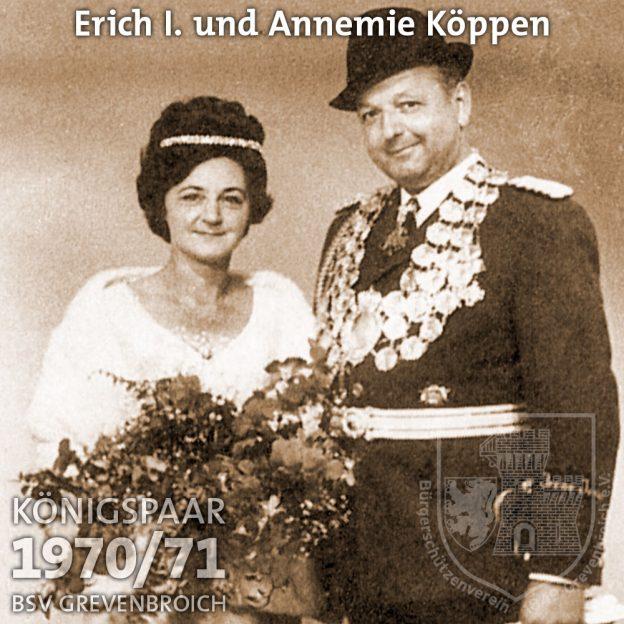 Schützenkönigspaar 1970/71: Erich I. und Annemie Köppen