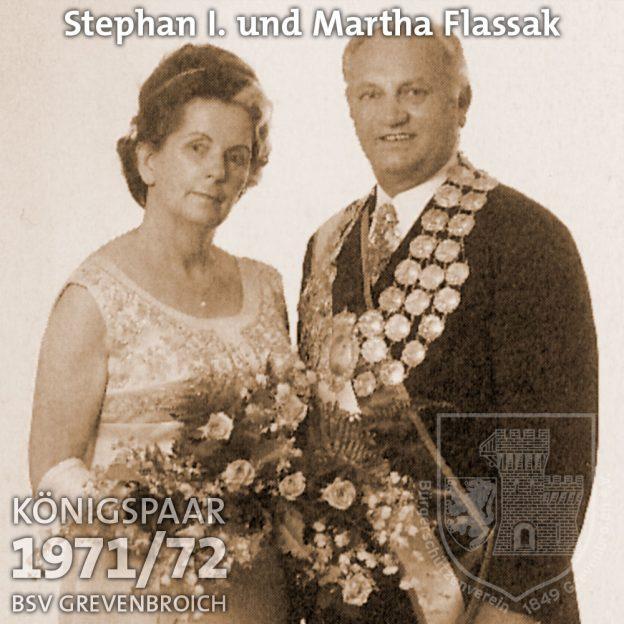 Schützenkönigspaar 1971/72: Stephan I. und Martha Flassak