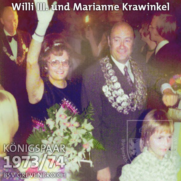 Schützenkönigspaar 1973/74: Willi III. und Marianne Krawinkel