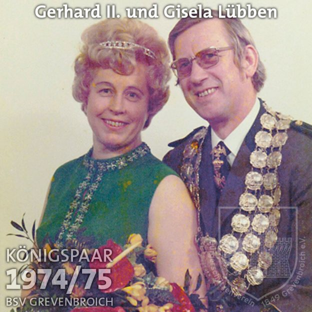 Schützenkönigspaar 1974/75: Gerhard II. und Gisela Lübben