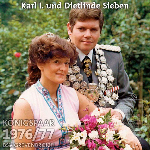 Schützenkönigspaar 1976/77: S.M. Karl I. und Dietlinde Sieben