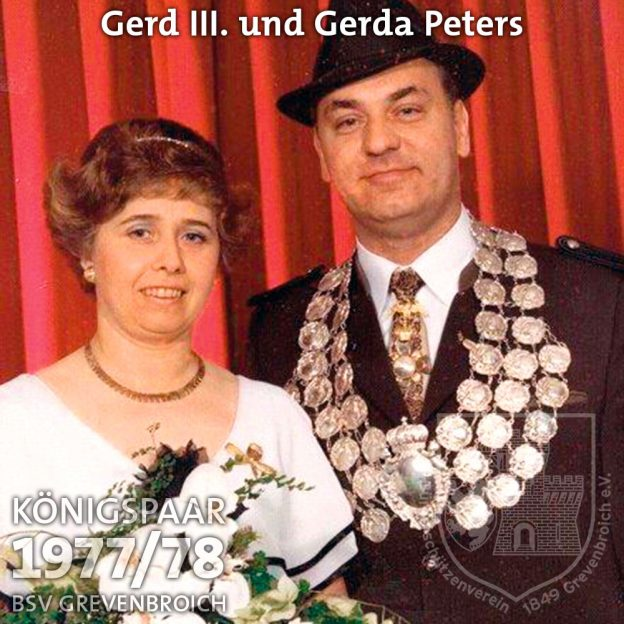 Schützenkönigspaar 1977/78: Gerd III. und Gerda Peters