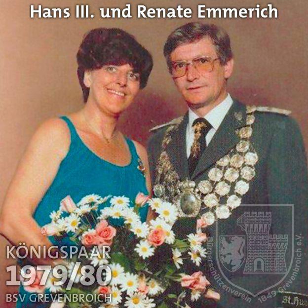 Schützenkönigspaar 1979/80: Hans III. und Renate Emmerich