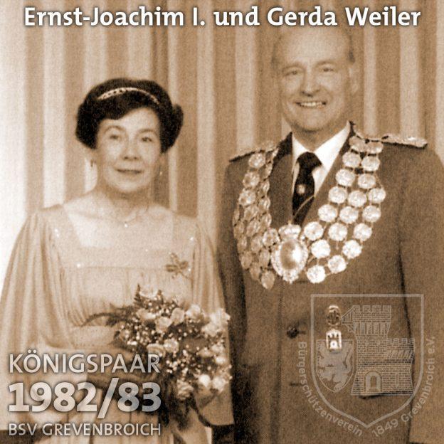 Schützenkönigspaar 1982/83: Ernst-Joachim I. und Gerda Weiler