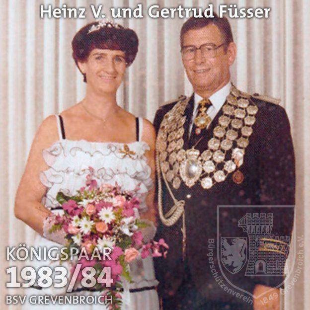 Schützenkönigspaar 1983/84: Heinz V. und Gertrud Füsser