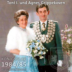 Schützenkönigspaar 1984/85: Toni I. und Agnes Grippekoven
