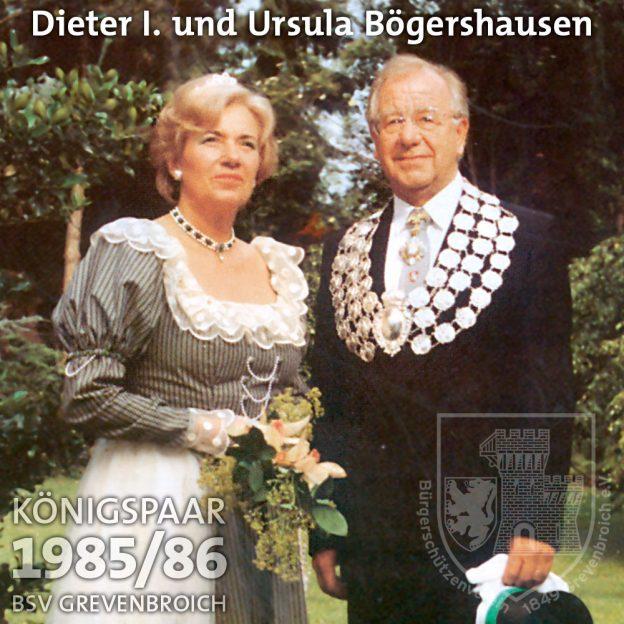 Schützenkönigspaar 1985/86: Dieter I. und Ursula Bögershausen