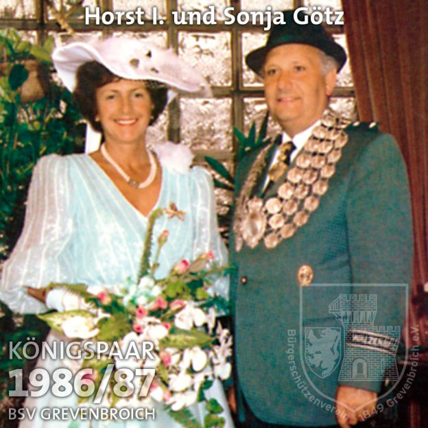 Schützenkönigspaar 1986/87: Horst I. und Sonja Götz