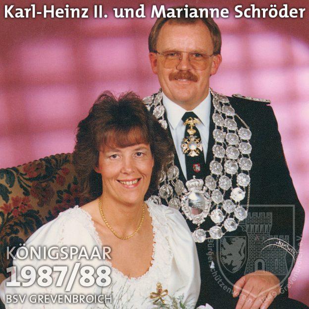 Schützenkönigspaar 1987/88: Karl-Heinz II. und Marianne Schröder