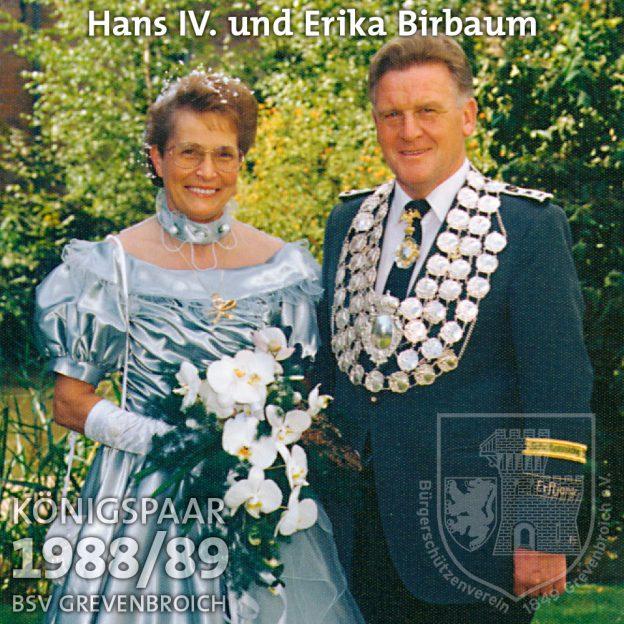 Schützenkönigspaar 1988/89: Hans IV. und Erika Birbaum