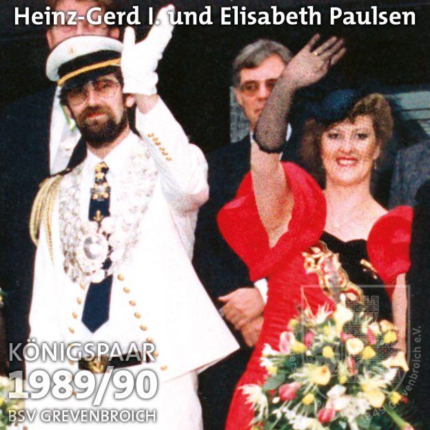 Schützenkönigspaar 1989/90: Heinz-Gerd I. und Elisabeth Paulsen