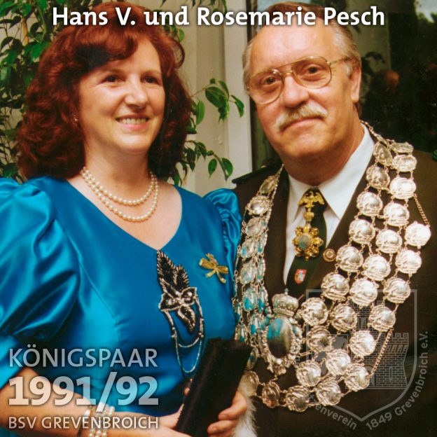 Schützenkönigspaar 1991/92: Hans V. und Rosemarie Pesch