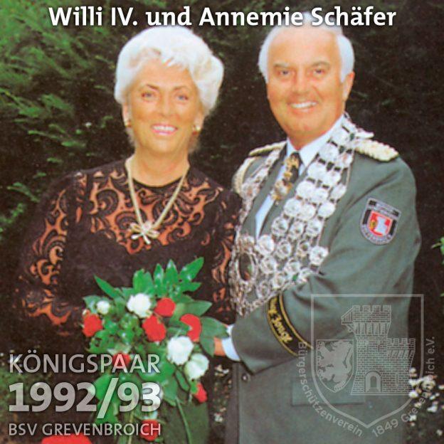 Schützenkönigspaar 1992/93: Willi IV. und Annemie Schäfer