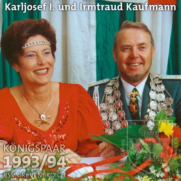 Schützenkönigspaar 1993/94: Karljosef I. und Irmtraud Kaufmann