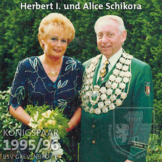 Schützenkönigspaar 1995/96: Herbert I. und Alice Schikora