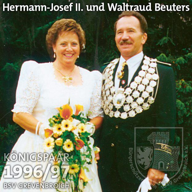Schützenkönigspaar 1996/97: Hermann Josef II. und Waltraud Beuters