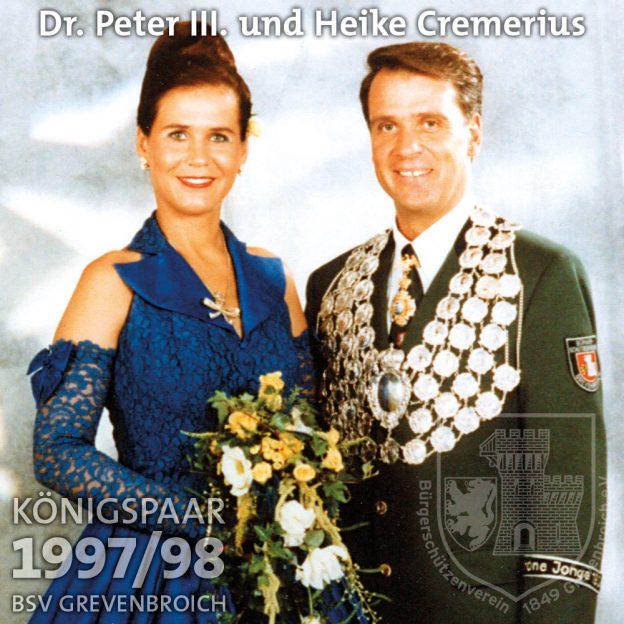 Schützenkönigspaar 1997/98: Dr. Peter III. und Heike Cremerius