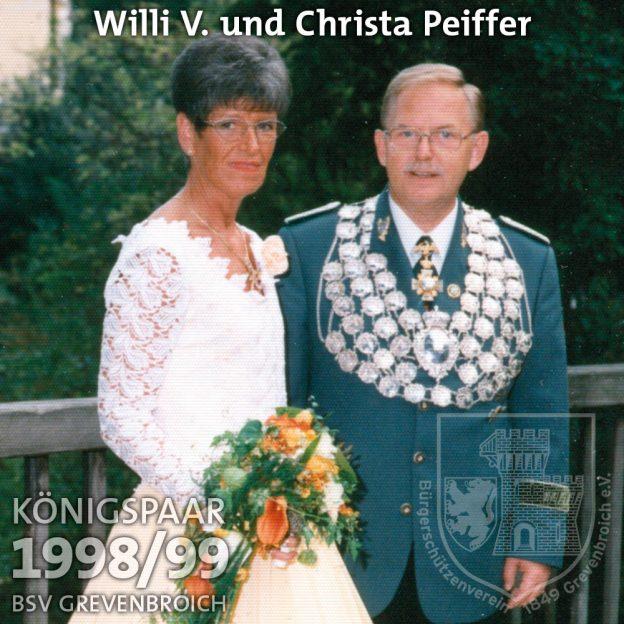 Schützenkönigspaar 1998/99: Willi V. und Christa Peiffer