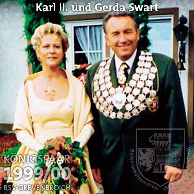 Schützenkönigspaar 1999/2000: Karl II. und Gerda Swart