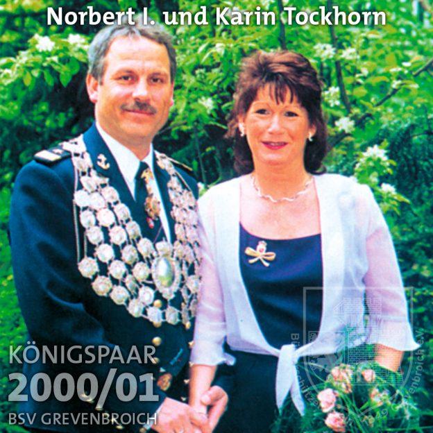 Schützenkönigspaar 2000/01: Norbert I. und Karin Tockhorn