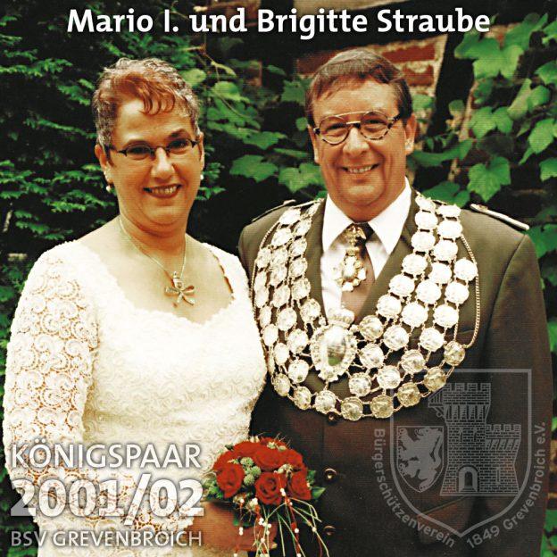 Schützenkönigspaar 2001/02: Mario I. und Brigitte Straube