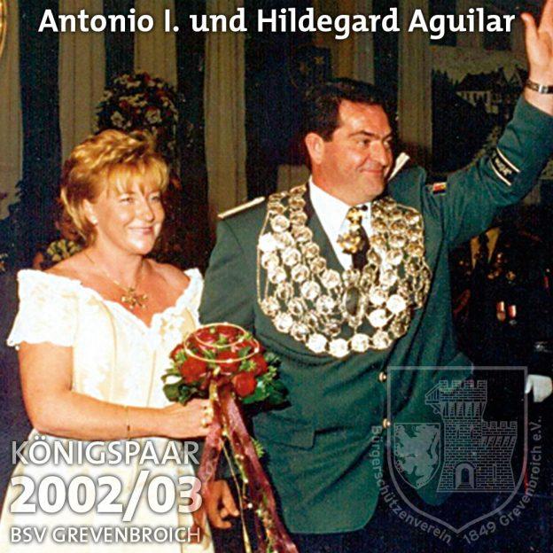 Schützenkönigspaar 2002/03: Antonio I. und Hildegard Aguilar