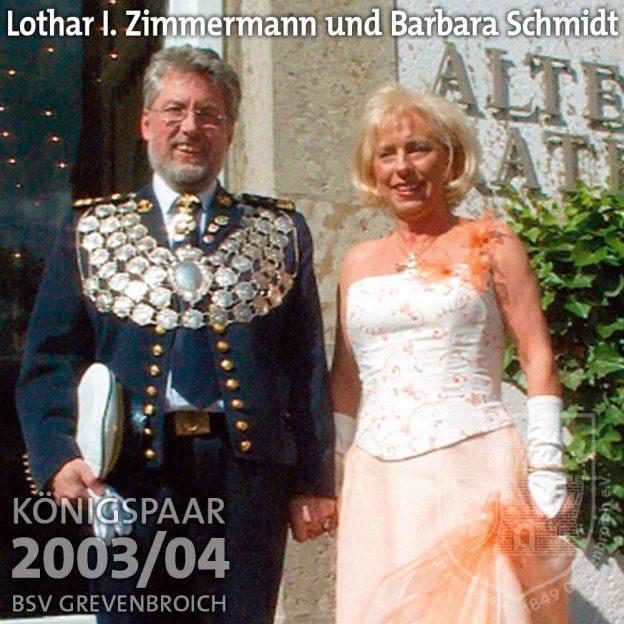 Schützenkönigspaar 2003/04: Lothar I. Zimmermann und Barbara Schmidt