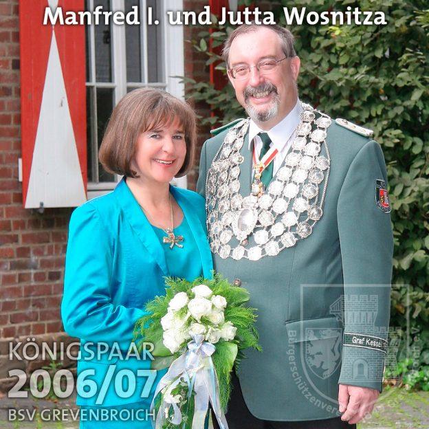 Schützenkönig 2006/07: Manfred I. und Jutta Wosnitza