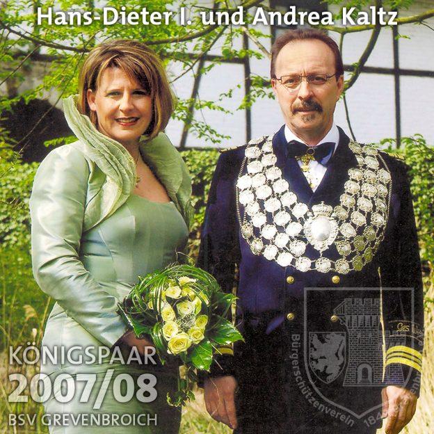 Schützenkönigspaar 2007/08: Hans-Dieter I. und Andrea Kaltz